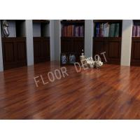 China Commercial HDF Wood ECO Laminate Flooring AC4 E1 Embossed Cherry Color Office on sale