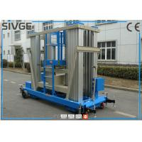 China Reliable Blue Hydraulic Aerial Work Platform 22 M Height For Business Decoration wholesale