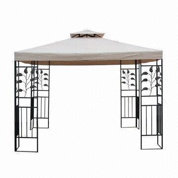 3 x 3m Double-roof Metal Gazebo, 180g/m² Polyester with PA Coating