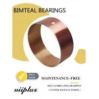 China Wrapped Bimetal Bushing Bearing With Lubrication Pockets DIN1494 wholesale