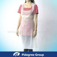 China Biodegradable Clear Polyethylene Apron 8g Disposable For Beauty Industry wholesale