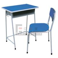 China Single student desk and chair,school table,student table,student chair,classroom sets wholesale
