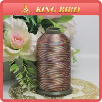 China Coloured Changing Pattern Polyester Embroidery Bobbin Thread Big Cone Dacron wholesale