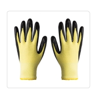 China Yellow Aramid Heat and Cut Resistant Liner Foam Nitrile Coating Work Gloves on sale