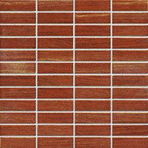 China Strip Ceramic Mosaic Tiles , Polished Porcelain Tiles For Bathroom Floor wholesale