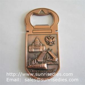 China 3D designed metal beer bottle openers, personalised 3D metal bottle openers wholesale