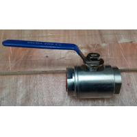 China A105 forged steel 2PCS body NPT ends floating ball valve HDG 800LBS on sale