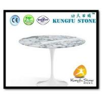 China Xiamen Kungfu Stone Ltd supply Natural White Marble Table In High quality and cheap price wholesale