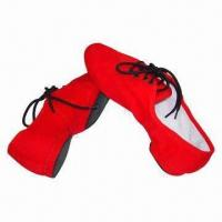 China Jazz shoes, made of red canvas wholesale