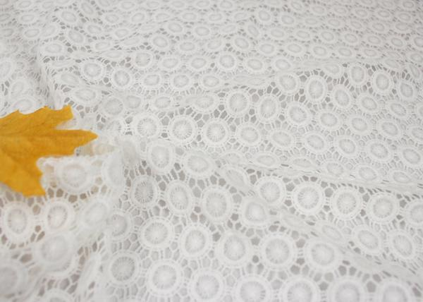 Quality White Chemical Water Soluble Guipure Lace Fabric By The Yard For Party Sexy Dress for sale