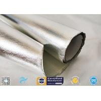 China 0.85mm Thick Silver Coated Fabric 95% Heat Reflection Aluminium Foil Laminated on sale