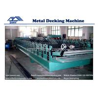 China Steel Structure sheet Floor Decking Roll Forming Machine with Double 11KW Motor Driven wholesale