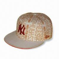 China Sports/Visor Cap with 3 Panels, Made of 65% Cotton and 35% Polyester Knitted Jersey wholesale