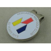 China Silver Golf Cap Souvenir Badges Iron Stamped Soft Enamel With Strong Magnet And Clip wholesale