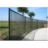 China Easily Assembled Black Steel Fence Black Metal For Traffic Safety Anti Corrosion wholesale