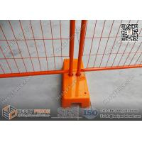 China 2.1m high Orange and Yellow color Portable Temporary Fencing Panels for commercial | AS4687 NZS3750.15 wholesale