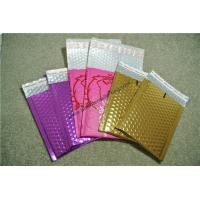 China Moisture Proof  Gold Metallic Bubble Mailers 295x435mm wholesale