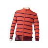 China Zipper Cardigan Sweaters Cute Orange Mens Striped Sweater Medium Cardigan wholesale