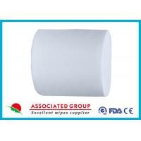 China White 30~110GSM Spunlace Nonwoven For Household Cleaning Wipe Wet Tissues wholesale