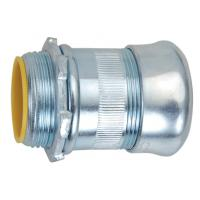 China 2 Inch EMT Compression Connector , EMT Conduit Compression Fittings Insulated Type on sale