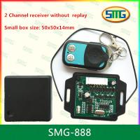 China SMG-888 2 channel remote control and receiver small size without replay 50x50x14mm wholesale