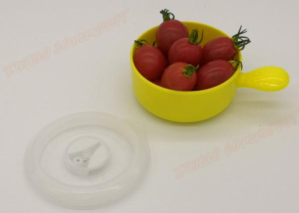 Quality Yellow Freezer Microwavable Plastic Bowls Food Container Eco - Friendly for sale