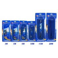 Buy cheap Real Steel Coil Blue Fishing Spring Coil Lanyard PU Material With Different from wholesalers