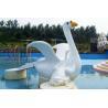 China Customized Cygnet Slide Game For Kids, Fiberglass Small Water Pool Slides wholesale