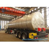 China 50000L 3 Axle Stainless Steel Asphalt Tank Trailer Flatbed Semi Trailer on sale