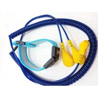 Buy cheap ESD Dual Wire Electrostatic Discharge Band Adjustable PU Cord 4mm Snap from wholesalers