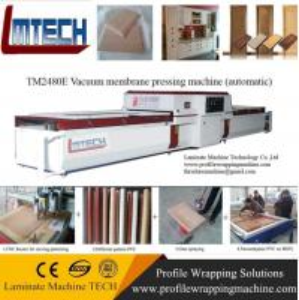 China PVC Coated Cabinet Interior Folding Door vacuum membrane press machine wholesale