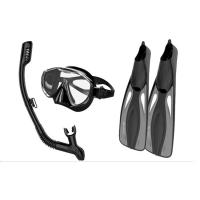 China Impact Resistant Snorkel Mask And Fins Set With Dry Top Technology wholesale