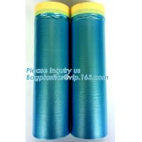 China PE Taped Drop Masking Film For Car Painting Protective Plastic Film wholesale