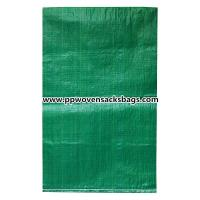 China Biodegradable Green PP Woven Bags for Packing Limestone / Industrial PP Sacks wholesale
