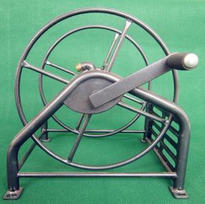 China Heavy Duty Metal Garden Hose Reel With Folding Free Wheeling Crank Handle wholesale