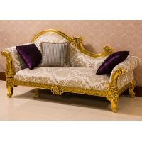 China Luxury European style Custom Wooden Lounge Chair Chaise Lounge Cushions For Hotel wholesale