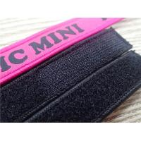 China Customized Fashion Polyester  Velcro Webbing Woven Tape For Garment  Or Bag  Label wholesale
