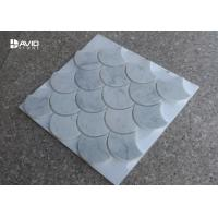 China Natural Stone Carrara Marble Mosaic Tile Ginkgo Leaf Shaped Moisture Proof wholesale