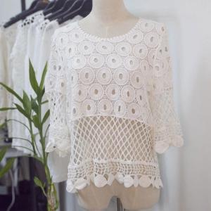 China Fashion  lace  Women Beach Swimwear Coverups ,sarons-Anti-UV, Breathable, Nontoxic, Plus Size, Quick Dry wholesale