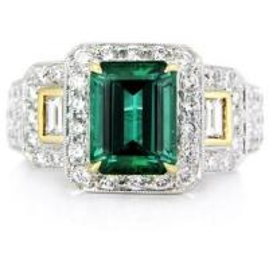 China 18K White Gold Ring With Diamond and Gemstone wholesale