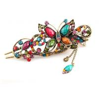 China Ancient palace with bow duckbill clip step by step charm patina hair fork hair clip wholesale