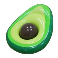 China Outdoor Inflatable Avocado Pool Floats Lounge With Beach Ball wholesale