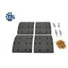 China Axle Drum Brake Shoe Relining Kit , Truck Brake Components 1535249 1535253 wholesale