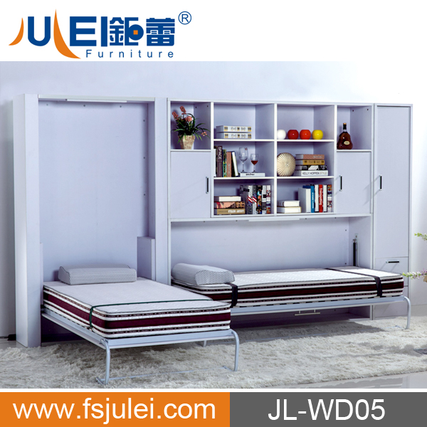 bed folds into wall images.