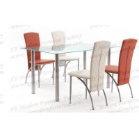 China rectangle modern glass dining table xydt-039 on sale