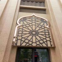 China Gold Metal Laser Cut Panels For Sunshades Louver Window Screen on sale