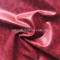 China OEM PU Synthetic Leather Embossed Crazy Horse PVC Synthetic Leather for Shoes / Bags wholesale