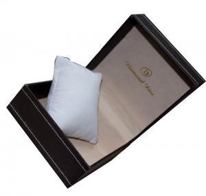China Personalized custom gift boxes , Luxury Plastic Board Single Watch Box on sale