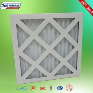 China Cardboard Paper Frame Furnace Pre Filter White Synthetic Fiber MERV10 MERV8 wholesale