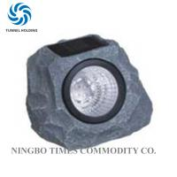 China Solar Powered Garden Rock Lights , Resin LED Solar Rock Landscaping Lights wholesale